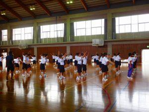 1年生合同体育 ~ラジオ体操第2~