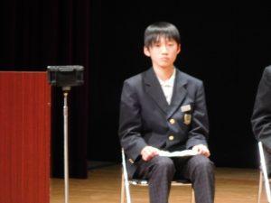 2年生代表「がんばっていること」の発表